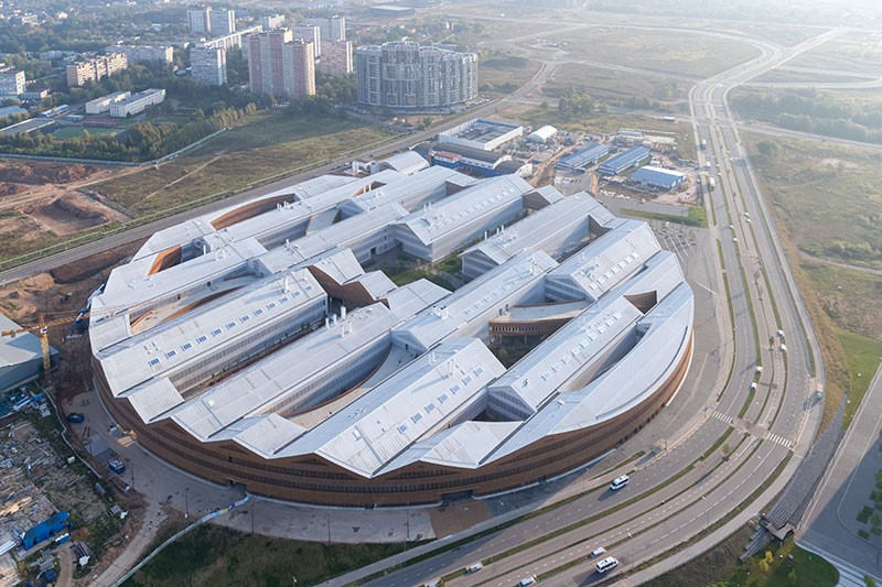 Aerial view of the Skolkovo Institute of Science and Technology