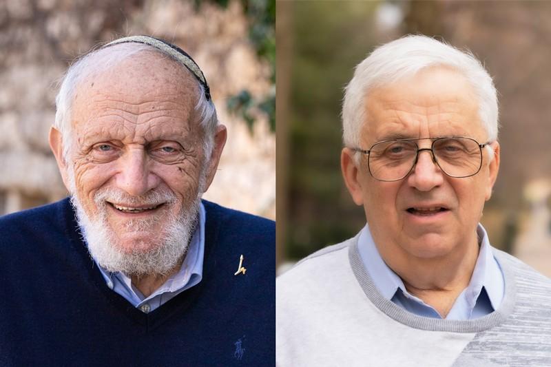 Composite of Hillel Furstenberg of Hebrew University and Gregory Margulis of Yale