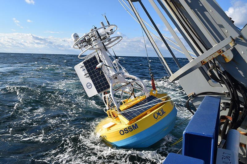 A sensor deployment on board R/V Armstrong in the Irminger Sea in 2019