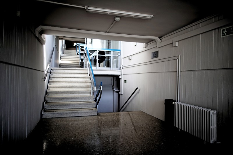 Empty staircase at Complutense University of Madrid