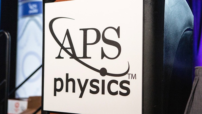 "A sign that says ""APS physics""."
