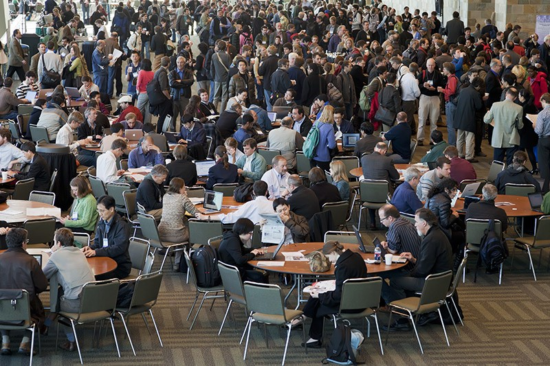 Crowds at the annual American Geophysical Union Fall Meeting