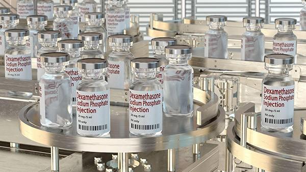 Ampoules du médicament Dexamethazone