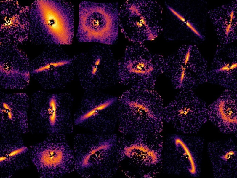 Dust rings around young stars captured by the Gemini Planet Imager Exoplanet Survey, or GPIES.