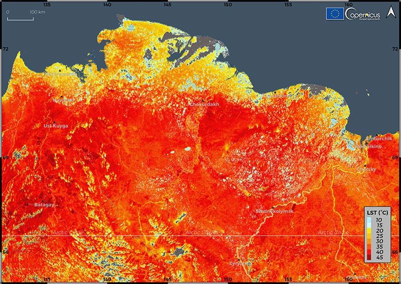 Land Surface Temperature in Siberia