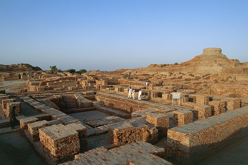 The Mohenjo-daro archaeological site in Sindh, Pakistan.