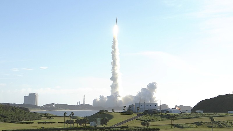 The United Arab Emirates' Hope Probe lifts off from Tanegashima Space Center, Japan
