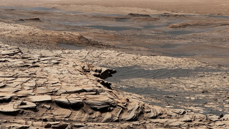 A view from NASA's Curiosity Mars rover