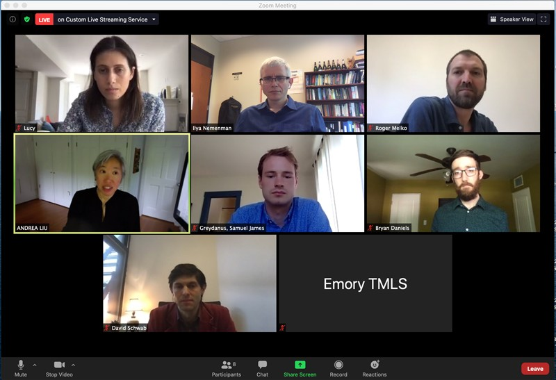 Screenshot of attendees in a Zoom meeting.