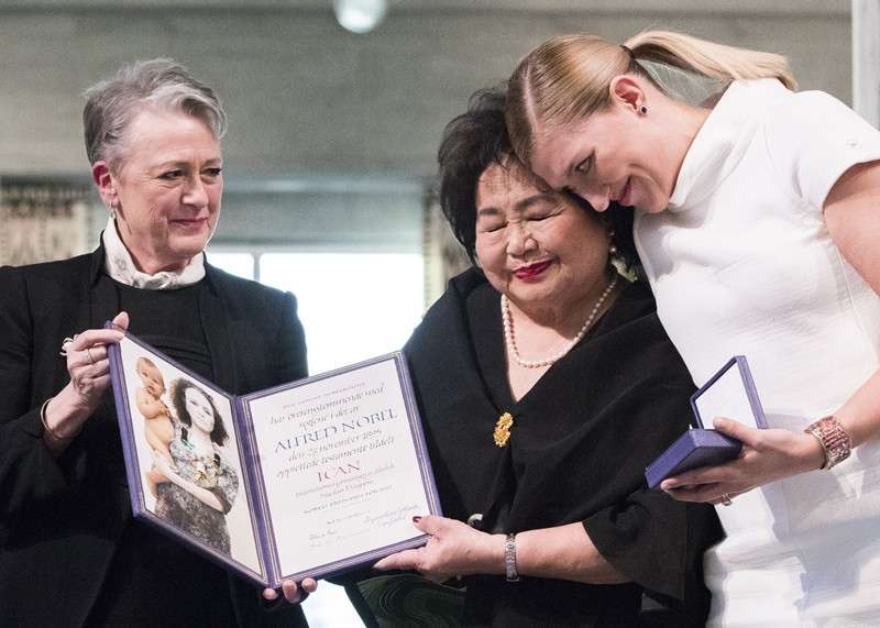 The award ceremony of the Nobel Peace Prize to ICAN