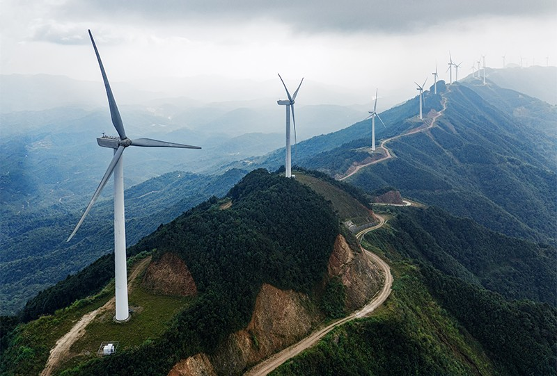 Photo of Chanziding wind farm at Heyuan City, Guangdong, China