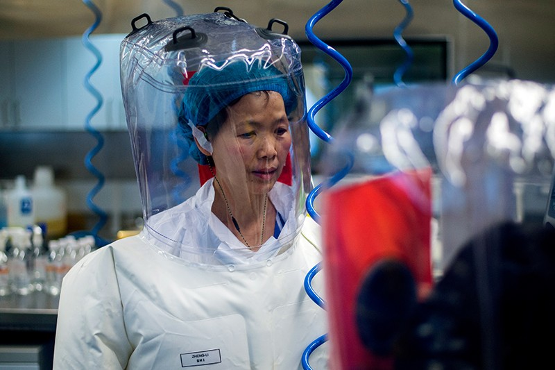 Chinese virologist Shi Zhengli is seen inside the P4 laboratory in Wuhan, capital of China's Hubei province
