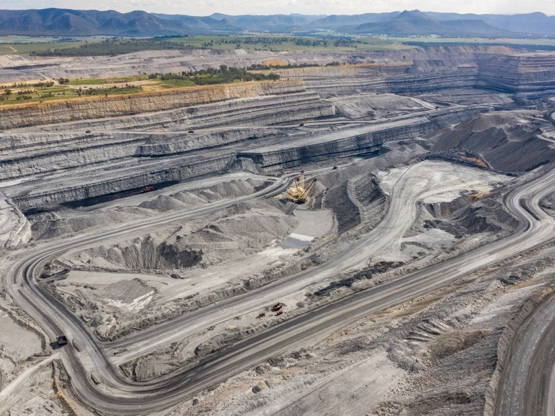 Coal mine located near Broke NSW Australia.
