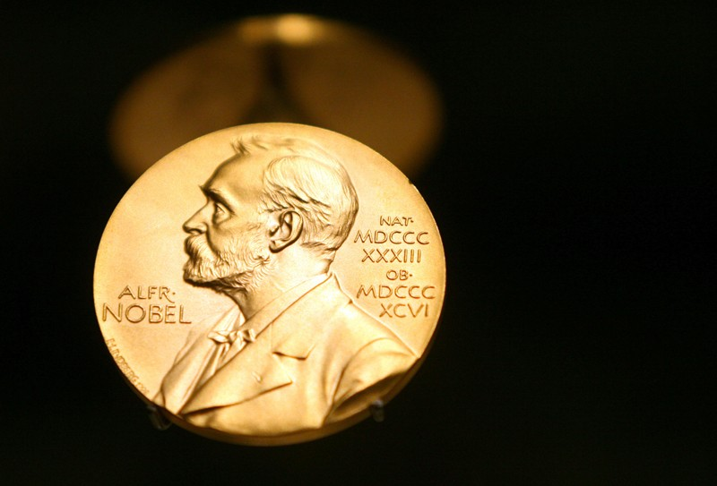 Nobel Prize Medal in Stockholm, Sweden, 08 December 2007.