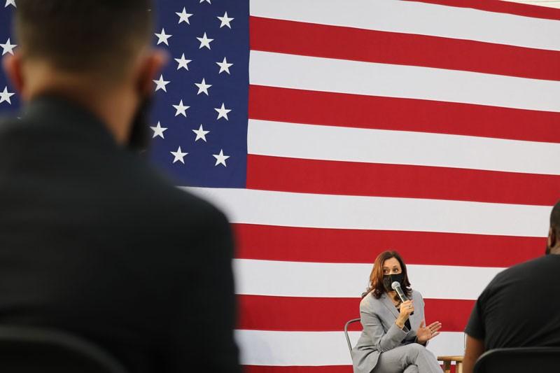 United States Senator and Democratic Vice Presidential nominee Kamala Harris