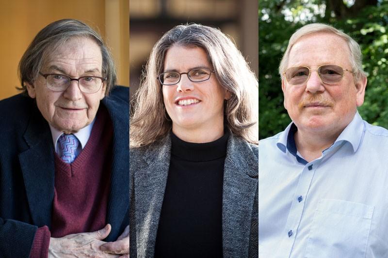 Sir Roger Penrose, Andrea Ghez and Reinhard Genzel
