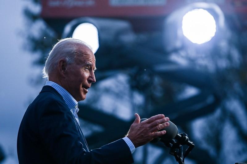 Joe Biden speaks to Union members