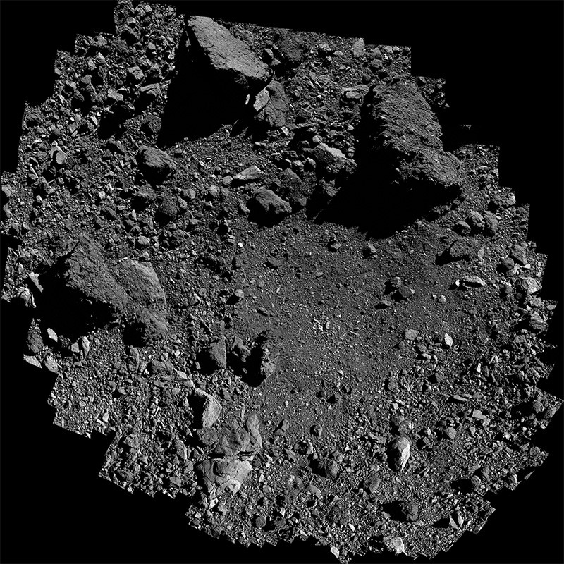 Sample site Nightingale on asteroid Bennu