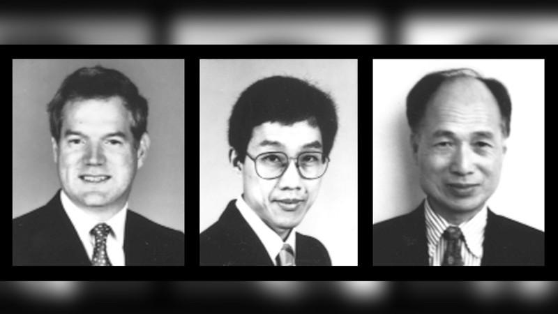 Photo of the HCV team, taken around 1990.