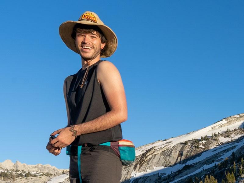 Sean Vidal Edgerton at Yosemite National Park where he teaches classes.