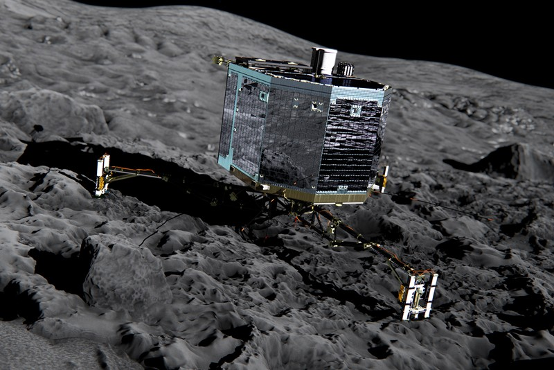 Artist's impression of Rosetta's lander Philae on the surface of a comet