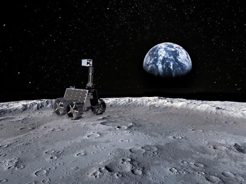 Emirates Lunar Mission. Artist impression of exact design of the new rover Rashid.