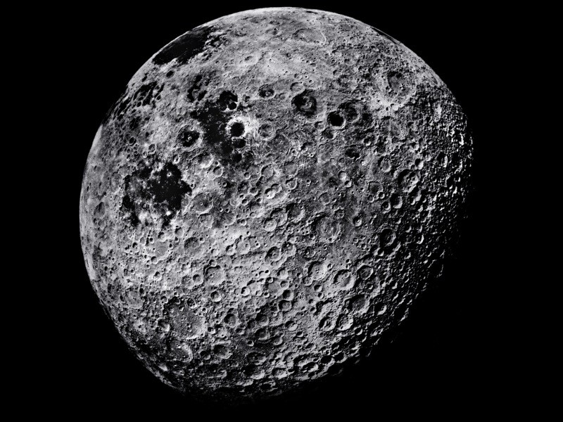 Moon, showing part of its far side, photographed from the Apollo 16 spacecraft after its landing on the Moon in April 1972.