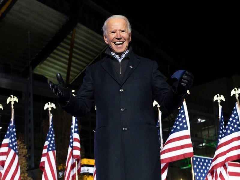 Democratic Presidential candidate and former US Vice President Joe Biden.