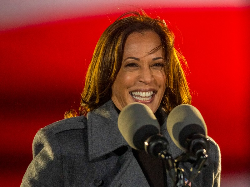 Democratic vice presidential nominee Sen. Kamala Harris.
