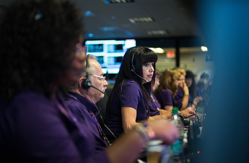 Cassini's mission control room during its final plunge into Saturn