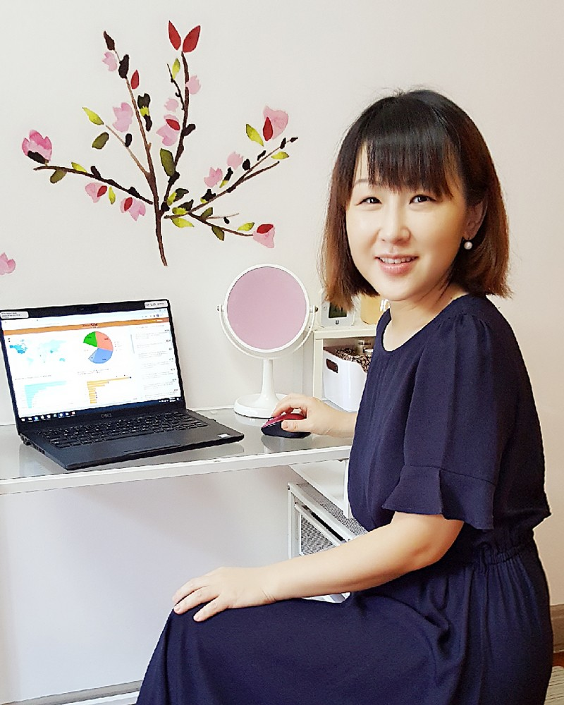 Yinping Yang working from home