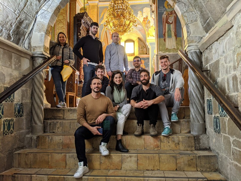 Shomron lab team visit the Greek Orthodox Church of the Annunciation in Nazareth