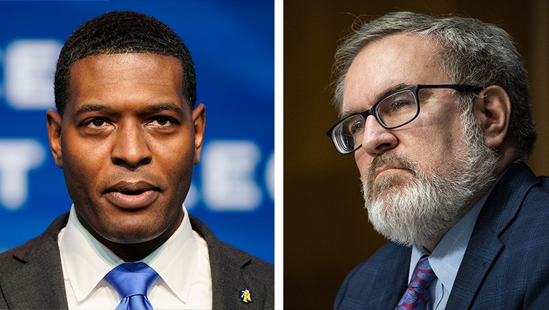 Left: Michael Regan; right: Andrew Wheeler