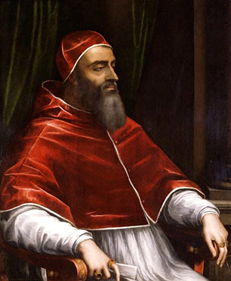 Painting of Pope Clement VII by Sebastiano del Piombo circa 1531