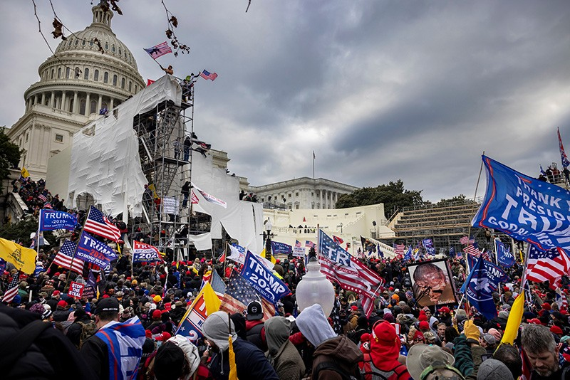 Trump supporters clash with police and security force at the US Capitol