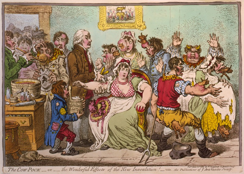 Cartoon by James Gillray