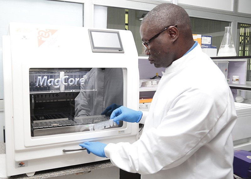 Christian Happi at Redeemer's University in Ede, Nigeria, plans to sequence human genomes.Credit: ACEGID