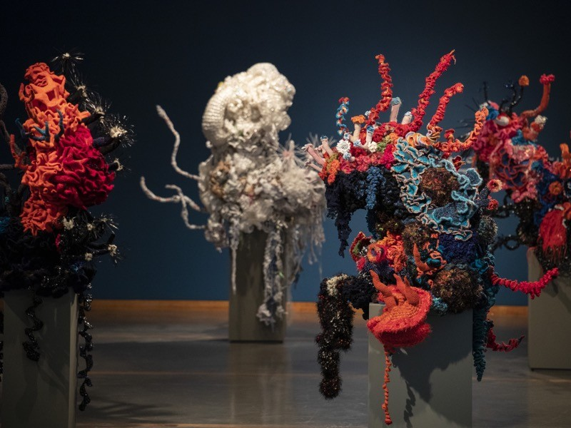 """""""Coral Forest"""" by Christine and Margaret Wertheim and the Institute For Figuring."""