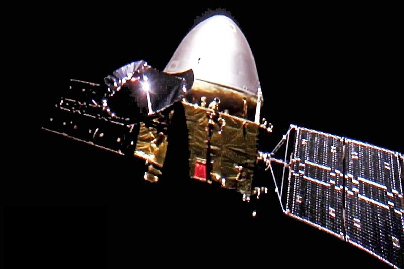 China's Mars probe Tianwen-1 in mid-flight