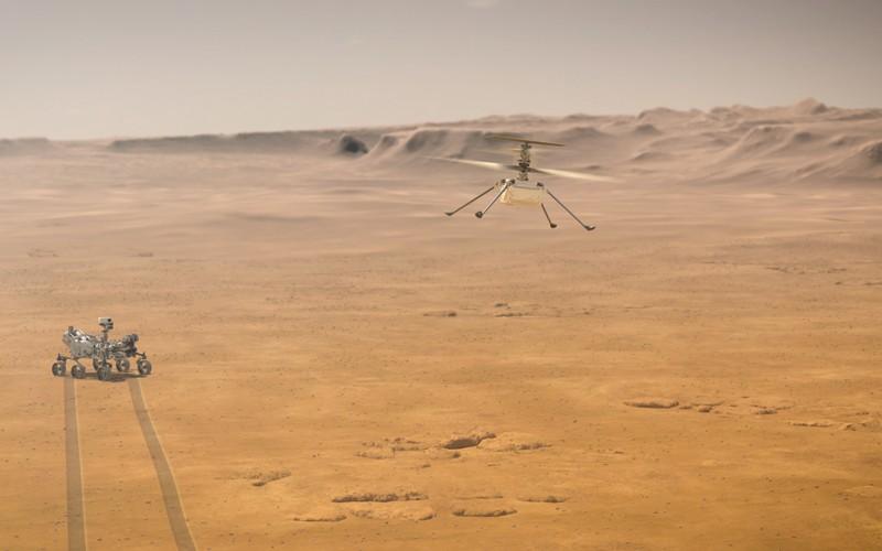NASA'nın Ingenuity Mars Helikopteri.