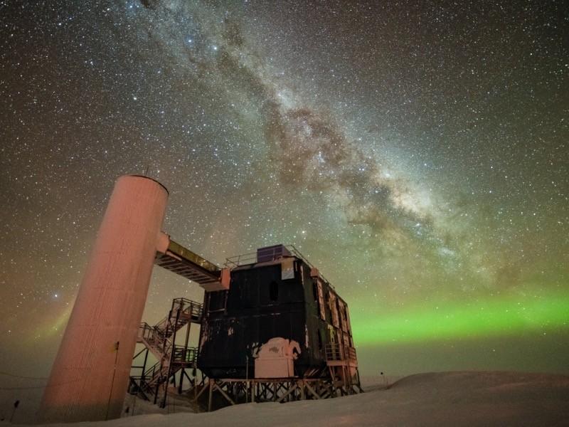 Güney Kutbundaki IceCube Laboratuvarı.