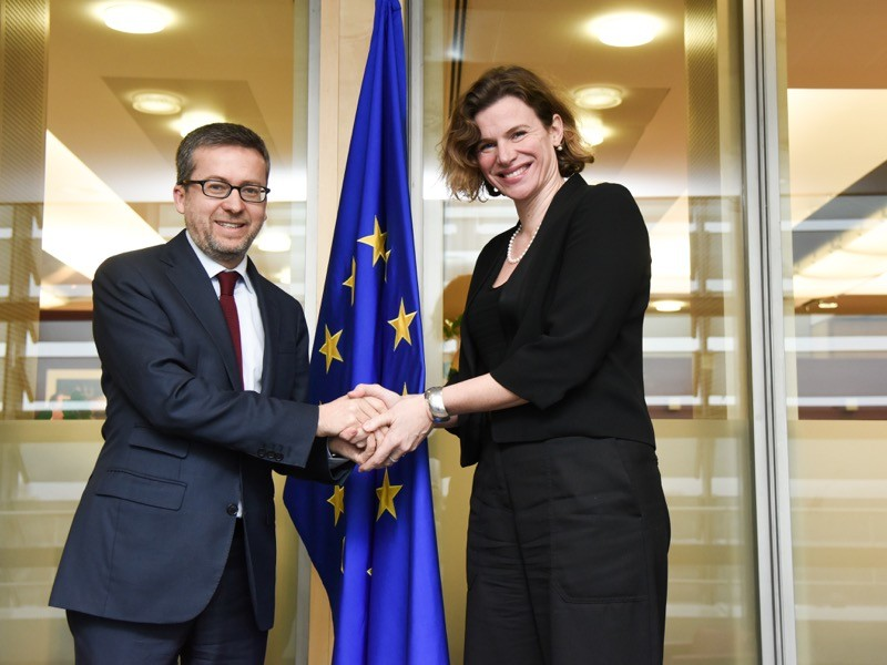 Visit of Mariana Mazzucato to the European Commission.