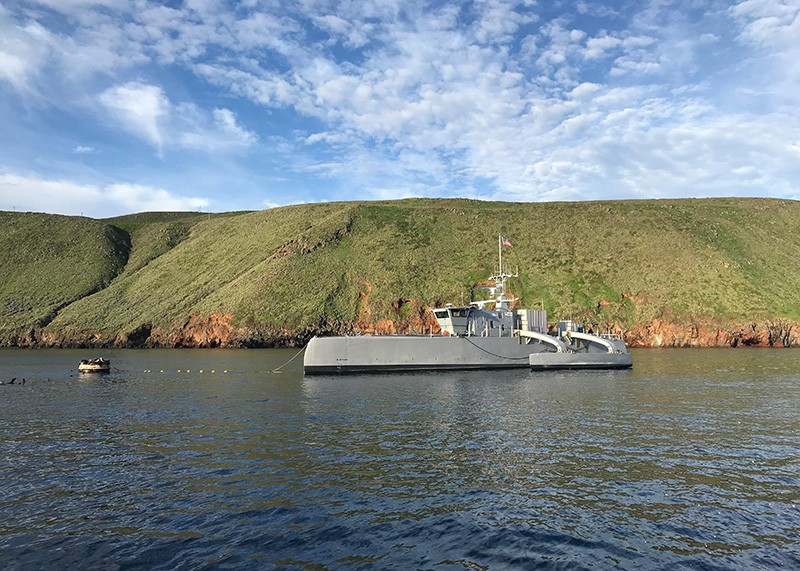 Sea Hunter is an entirely new class of unmanned sea surface vehicle
