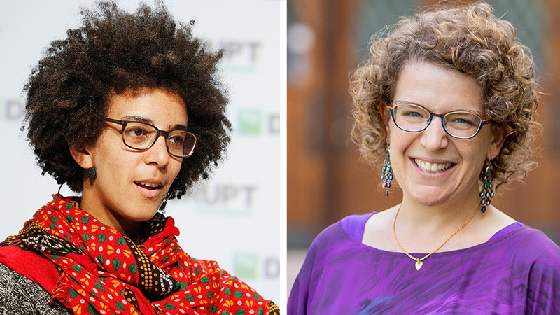 Left, Timnit Gebru; right, Emily M. Bender