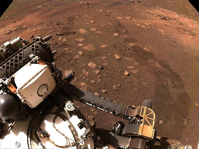 Zborul inițial Perseverance rover al NASA pe Marte