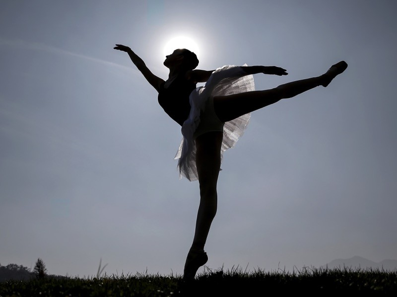 Chilean Sofia Shaw Zapata, student of the ballet school of the Municipal Theater poses in Santiago.
