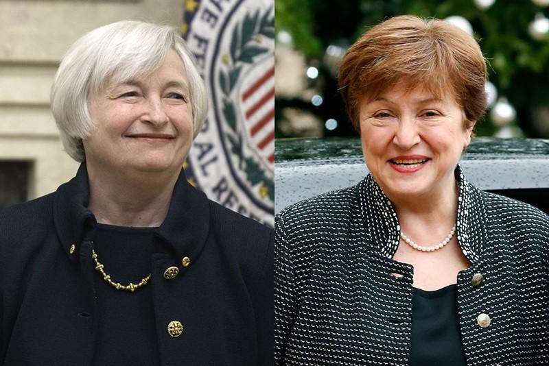 Janet Yellen and Kristalina Georgieva