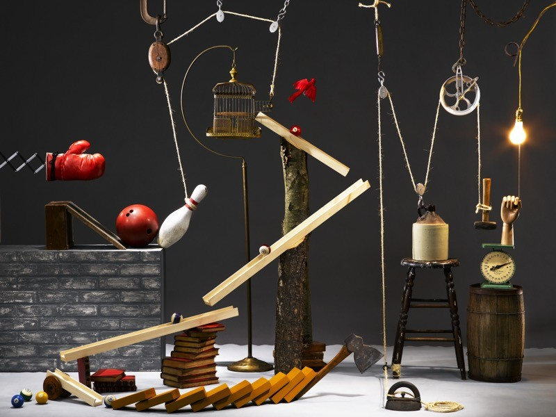 A complex Rube Goldberg machine.