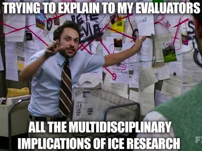 Sophie'nin Dufour-Beauséjour doktora savunmasından meme, bu tepki imajı meme genellikle komplo teorileri hakkında şaka yapmak için kullanılır.
