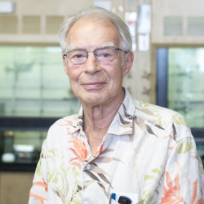 ASU Regents Professor Austen Angell in his lab